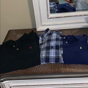Three Ralph Lauren shirts